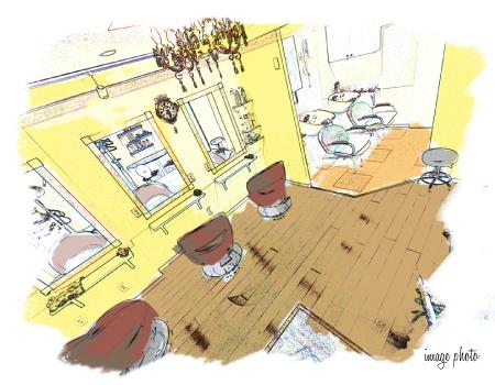 内装パース図のイメージ
