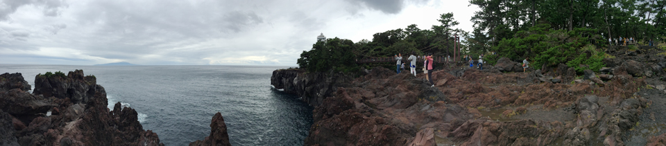 伊豆の城ヶ崎海岸、パノラマ画像
